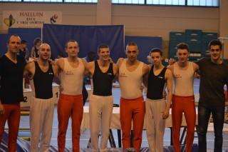 Compétition départementale Trophée fédéral GAM par équipes 12 ans et plus à halluin