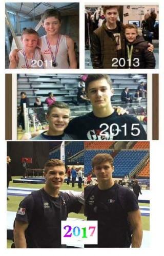 Deux anciens de l'US Roncq Gym en équipe de France Junior