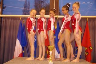 Album photos 1/2 finale des championnats de France GAF par  équipe Nat B 10 ans et + 1ère division à Rouen le 03/04/2016